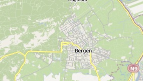 Map of Hotel Breeburgh Bergen