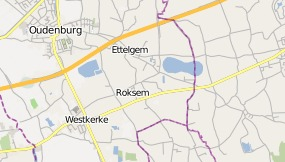 Map of Hotel de Stokerij Oudenburg