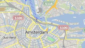 Mapa do DoubleTree by Hilton Amsterdam Centraal Station