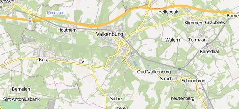 Map of Kasteelruine Valkenburg