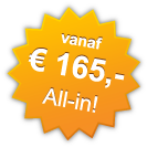 vanaf € 165,- All-in!